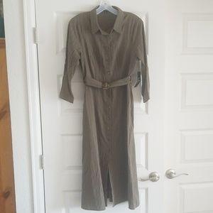 Lulus army green stripped dress